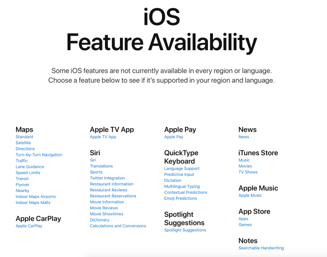 check iOS feature availability country