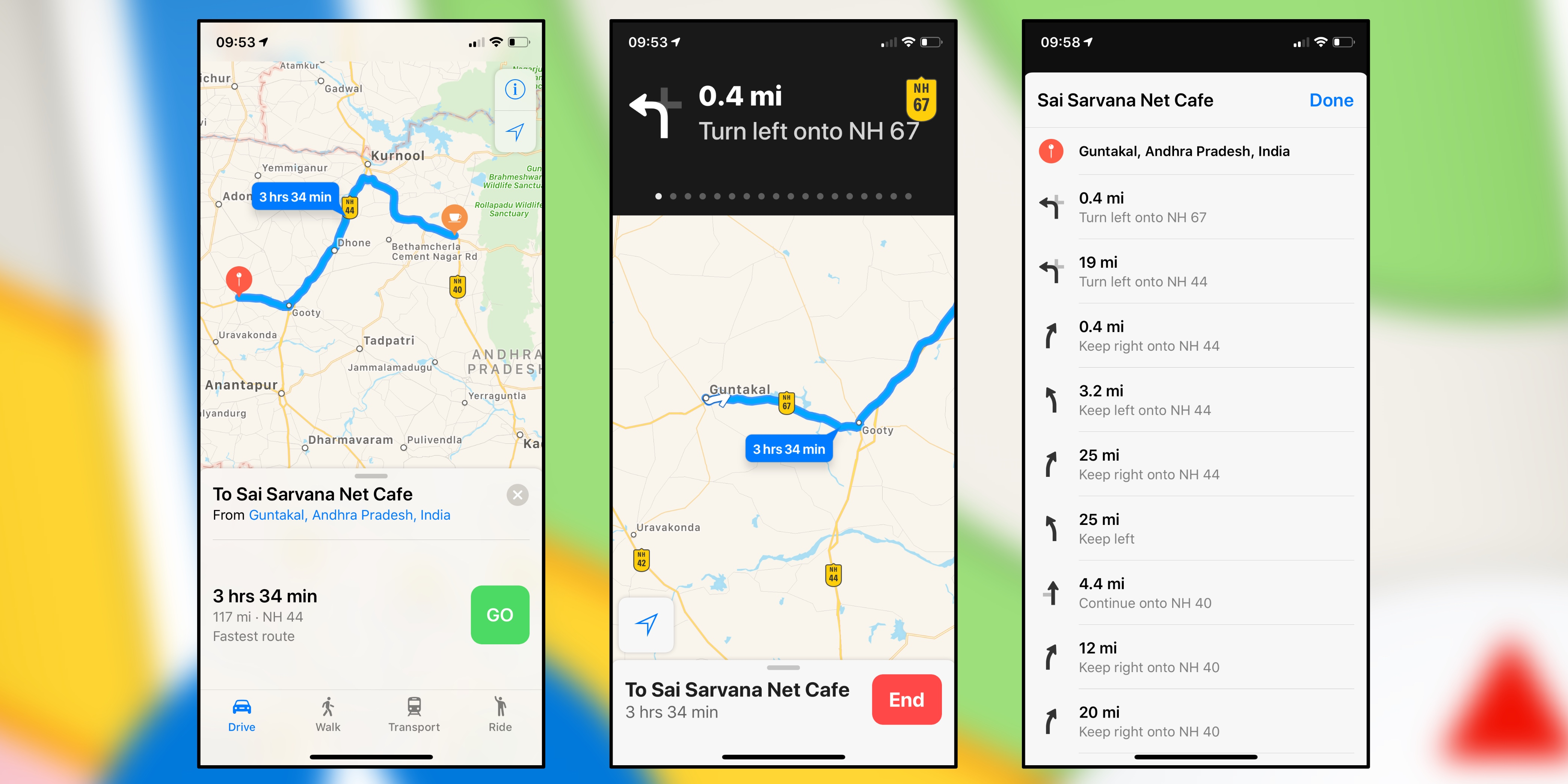 India Map With Directions.Apple Maps Turn By Turn Directions Now Available In India 9to5mac