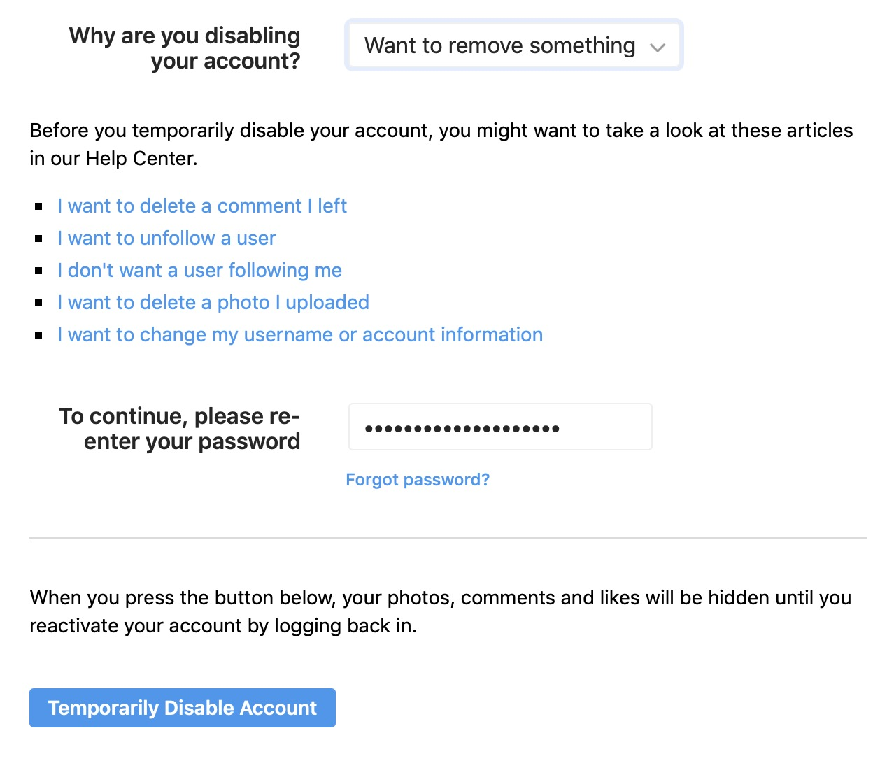 How to delete or temporarily disable your Instagram account