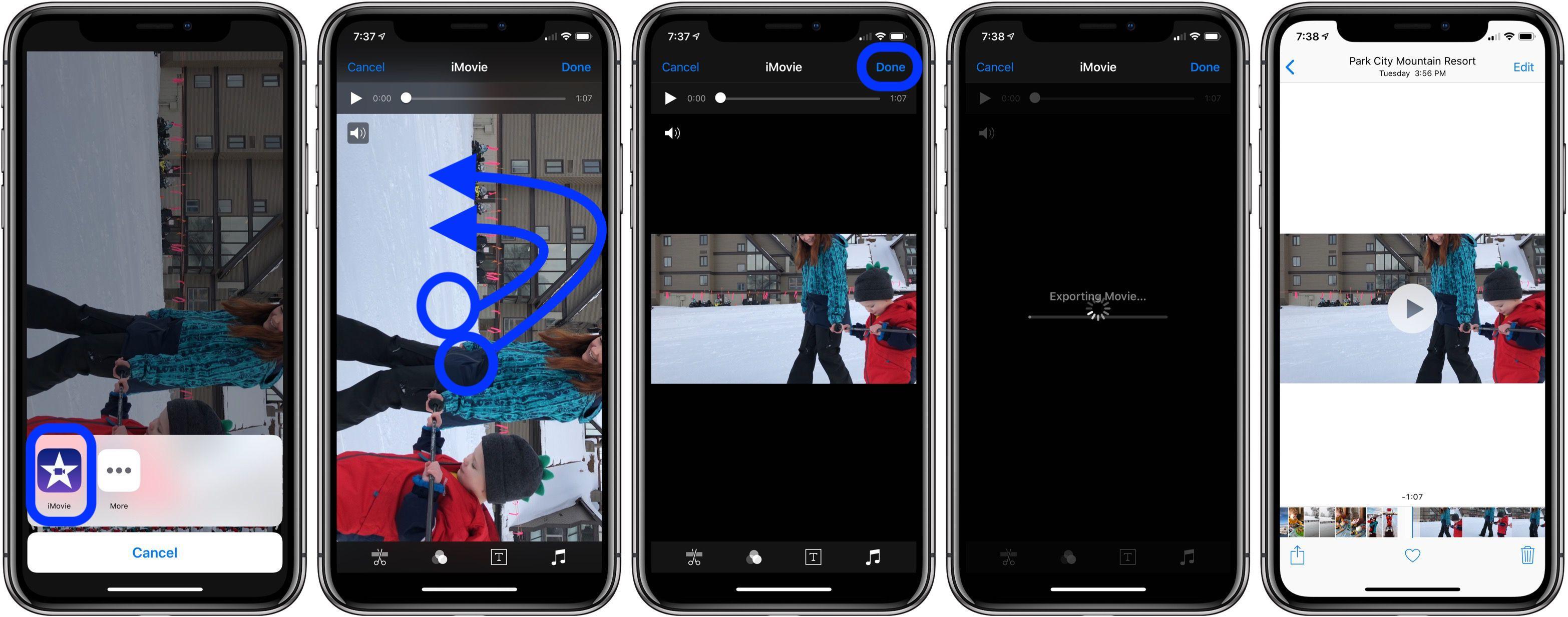 iphone video orientation