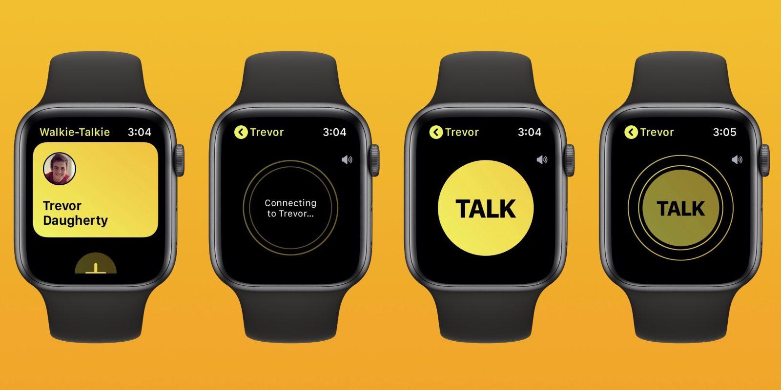 Výsledek obrázku pro apple watch walkie talkie