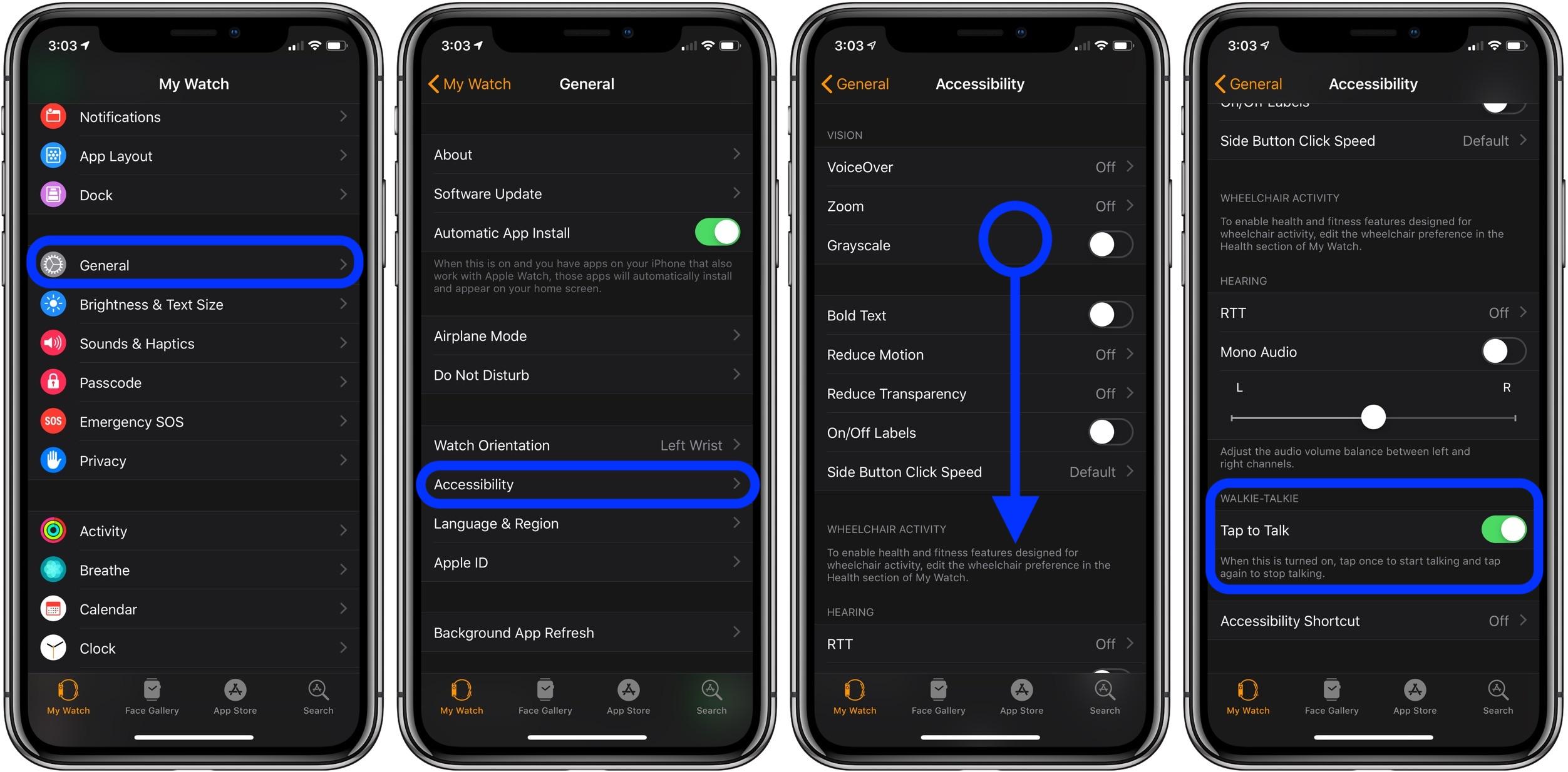 tap to talk Apple Watch walkie-talkie