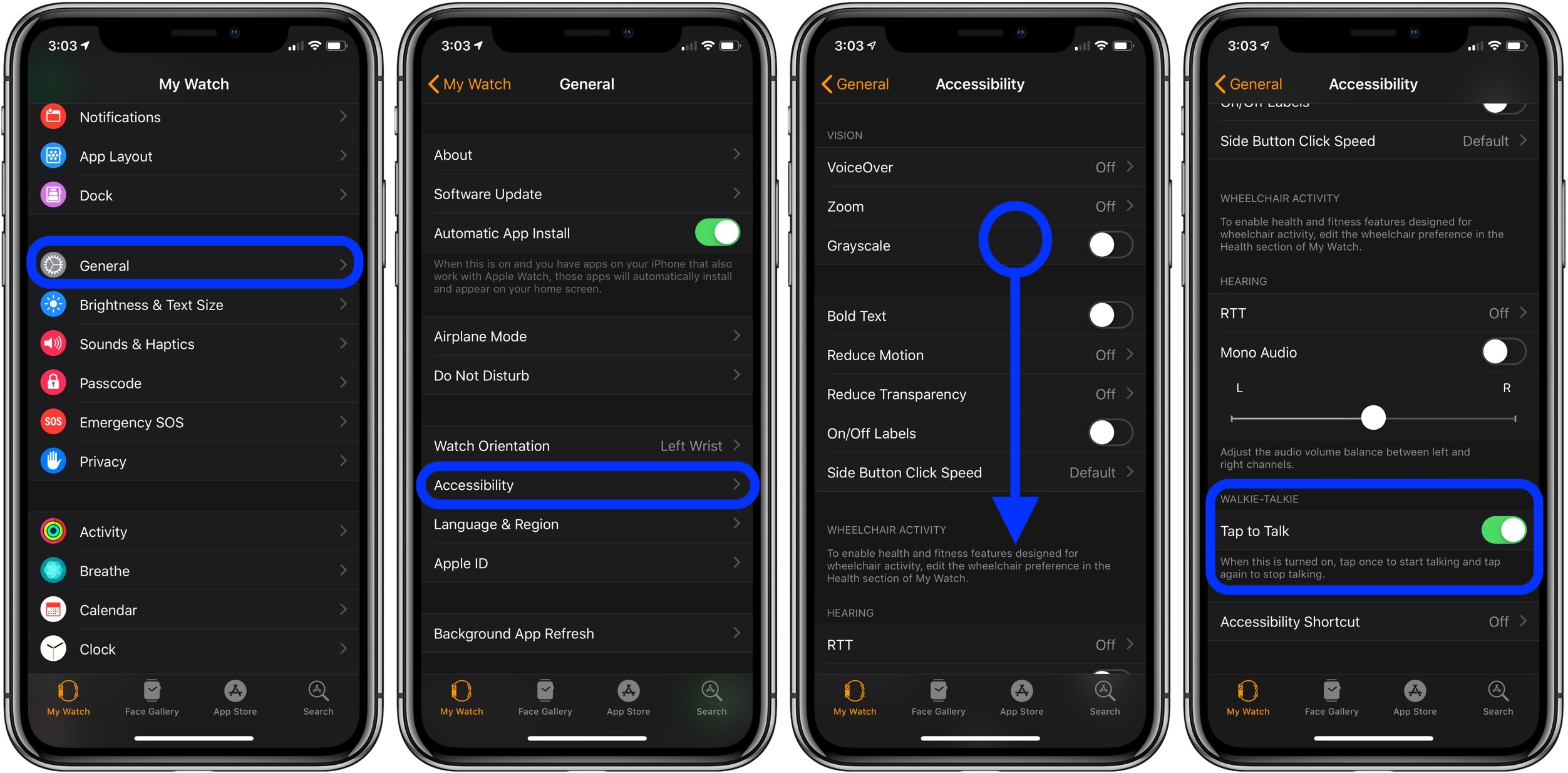 tap to talk Apple Watch walkie-talkie