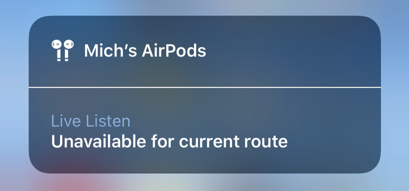 iPhone AirPods remote microphones