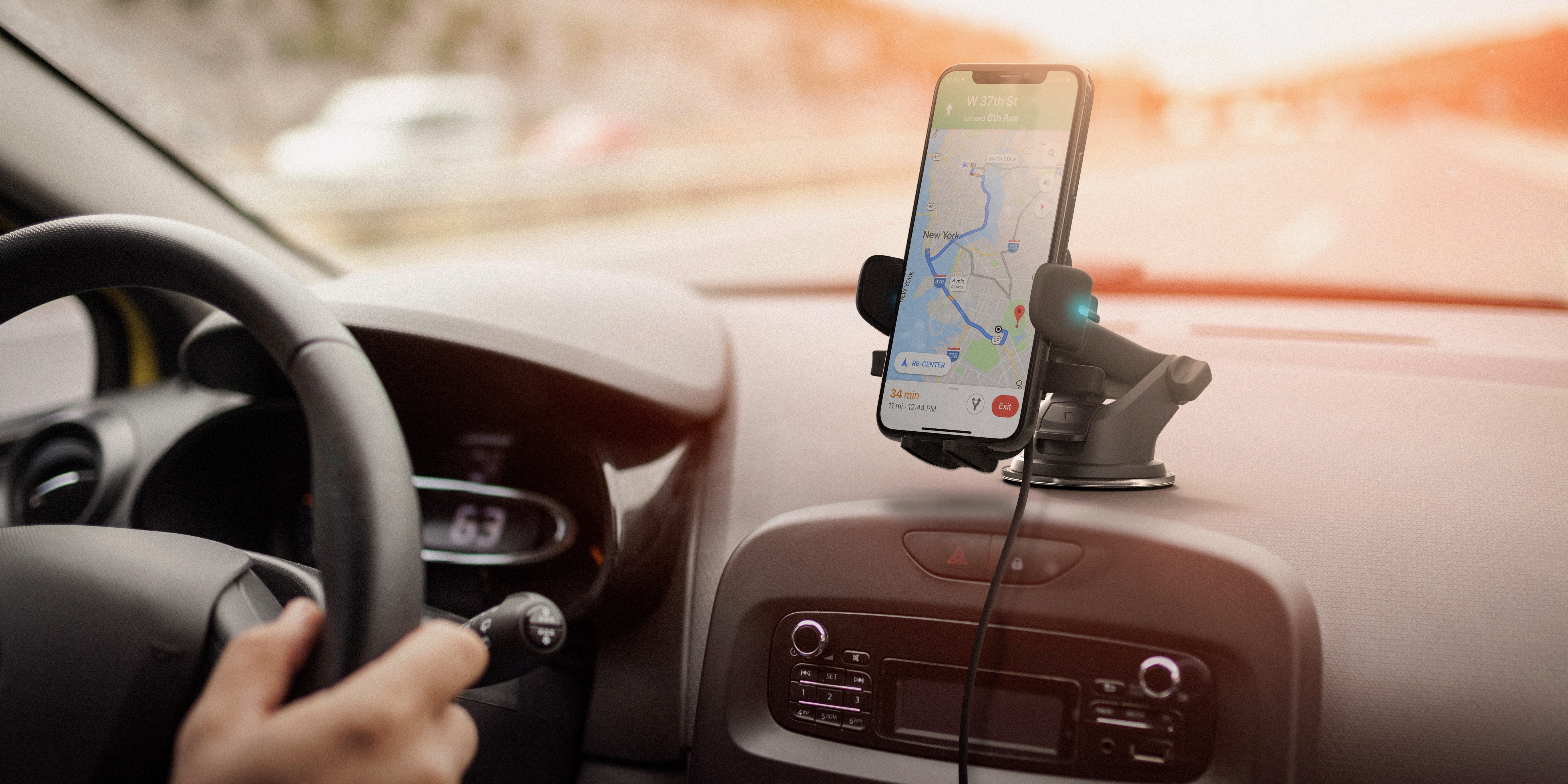 MFi Certified Universal Hands Free Alexa in Your car iOttie Easy One Touch Connect Pro Car Mount Phone Holder with Alexa Built in for iOS /& Android - Gen 2 New