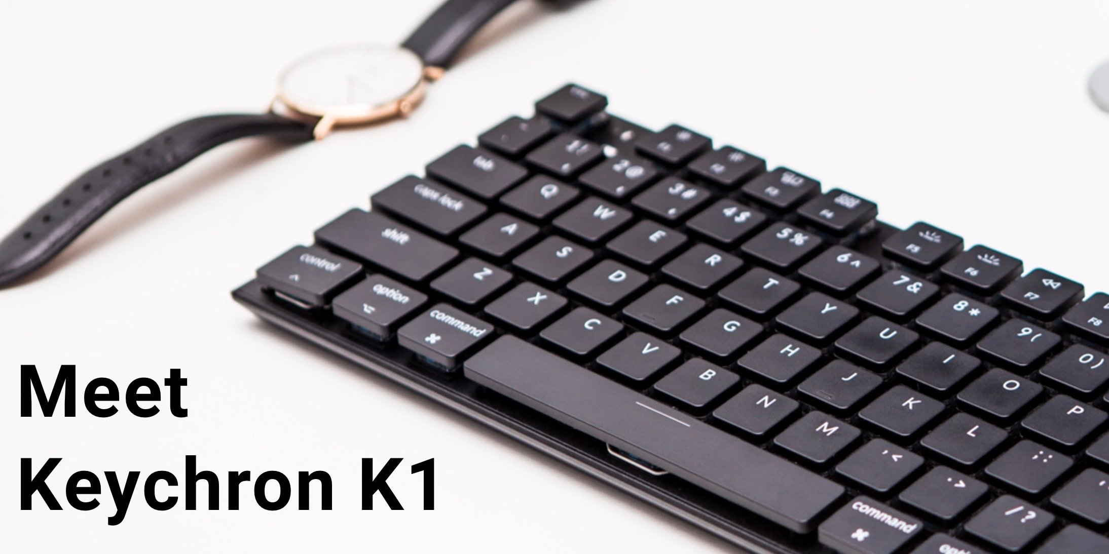 Magic Keyboard's slim design meets mechanical keyboard with the wireless Keychron K1 for Mac with dedicated Siri key