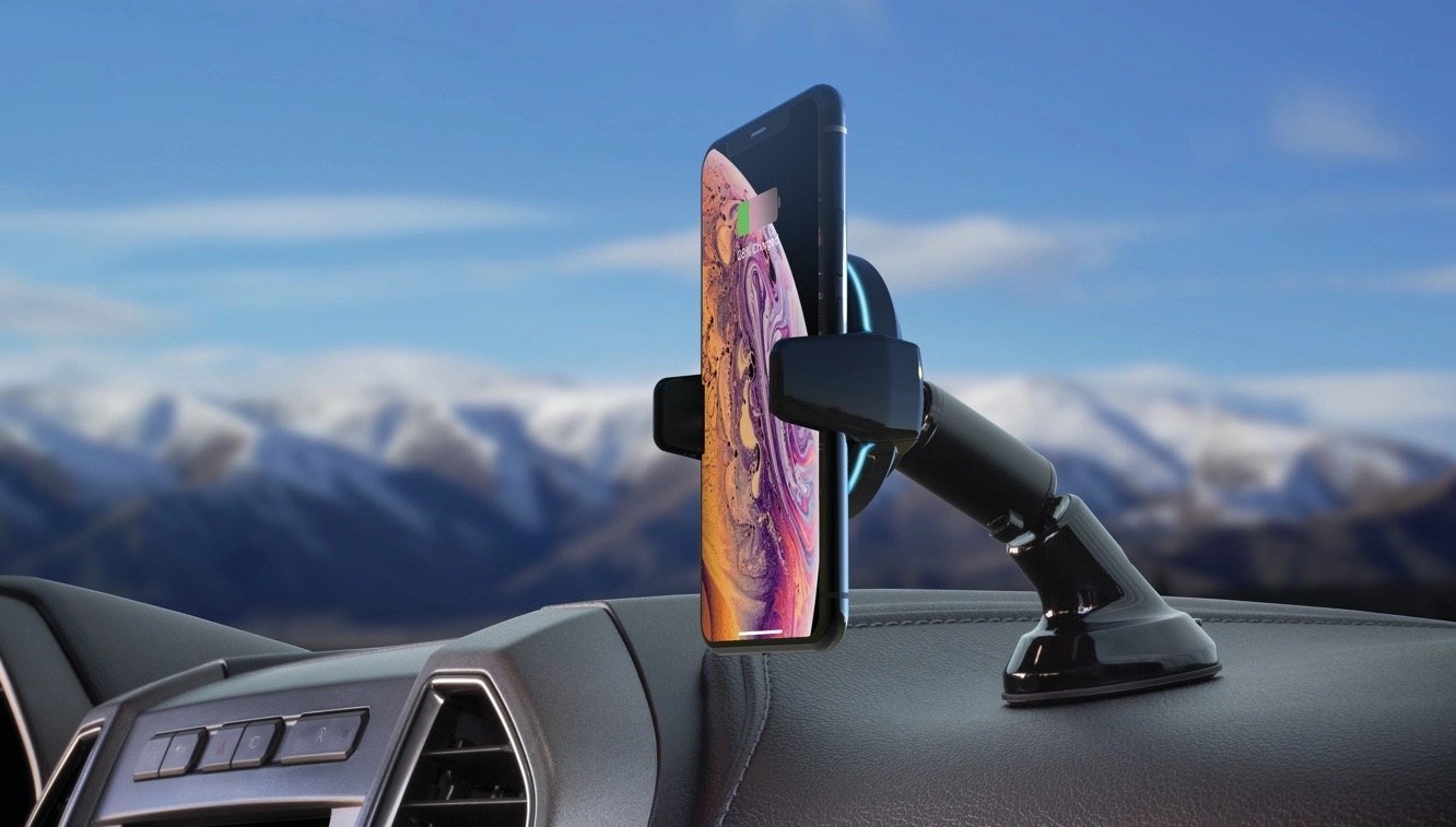 photo image Scosche unveils Qi-enabled MagicGrip car mount with motorized arms to hold your iPhone in place