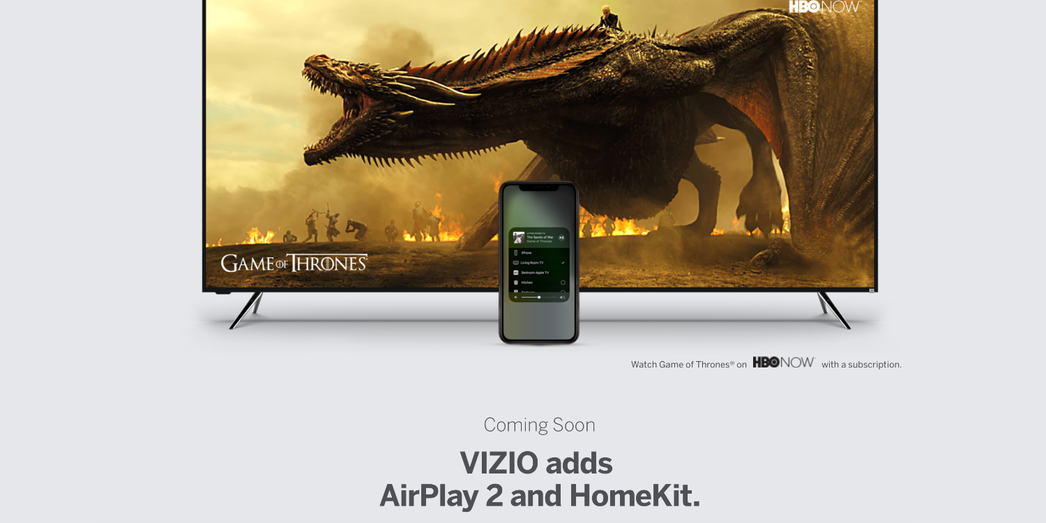 Vizio Updates SmartCast App for iOS in Preparation for Upcoming AirPlay 2 and HomeKit Support