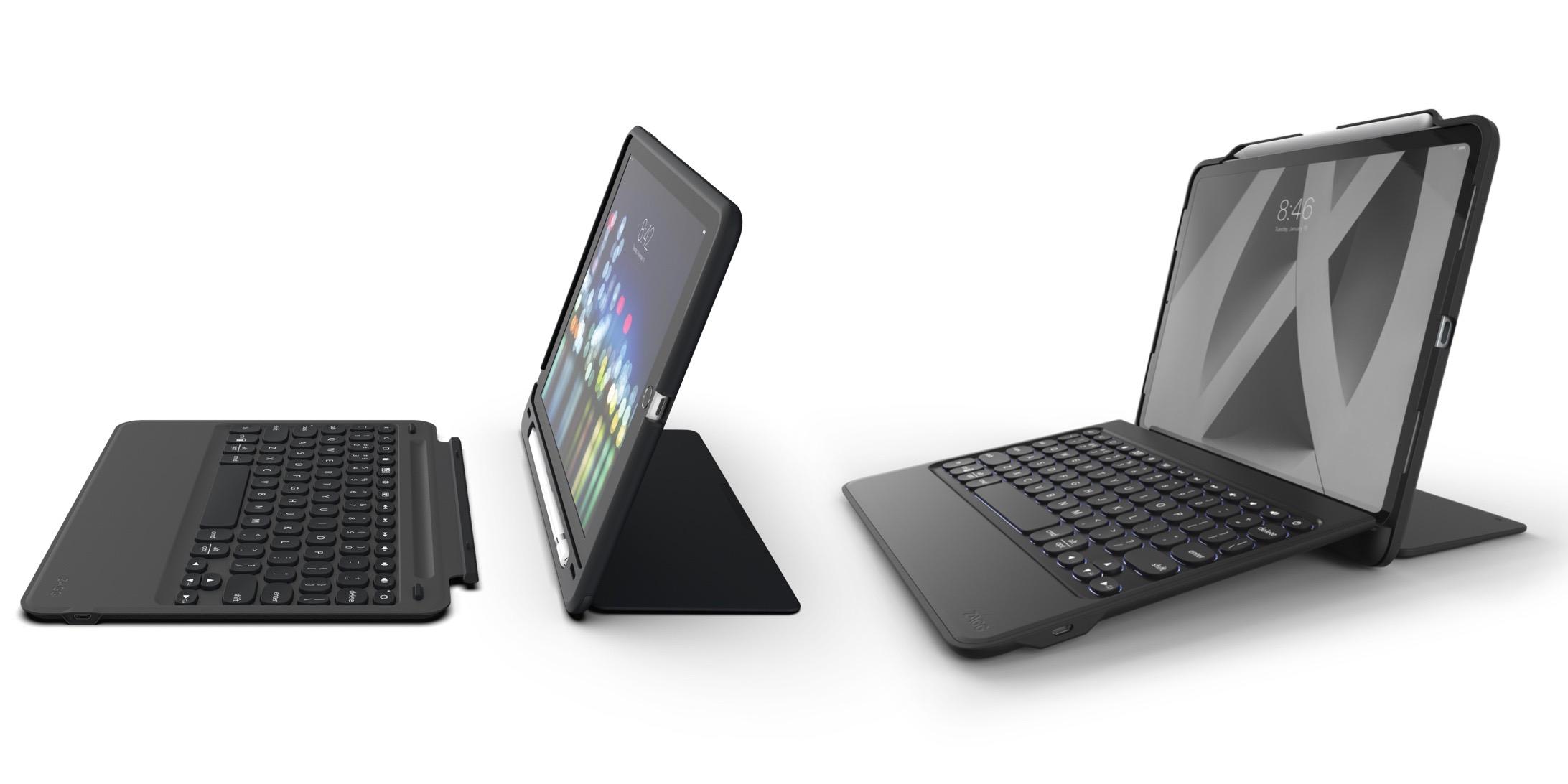 ZAGG Keyboard Folio Cover Case Backlit Keys Bluetooth for Apple iPad Air 2-Black
