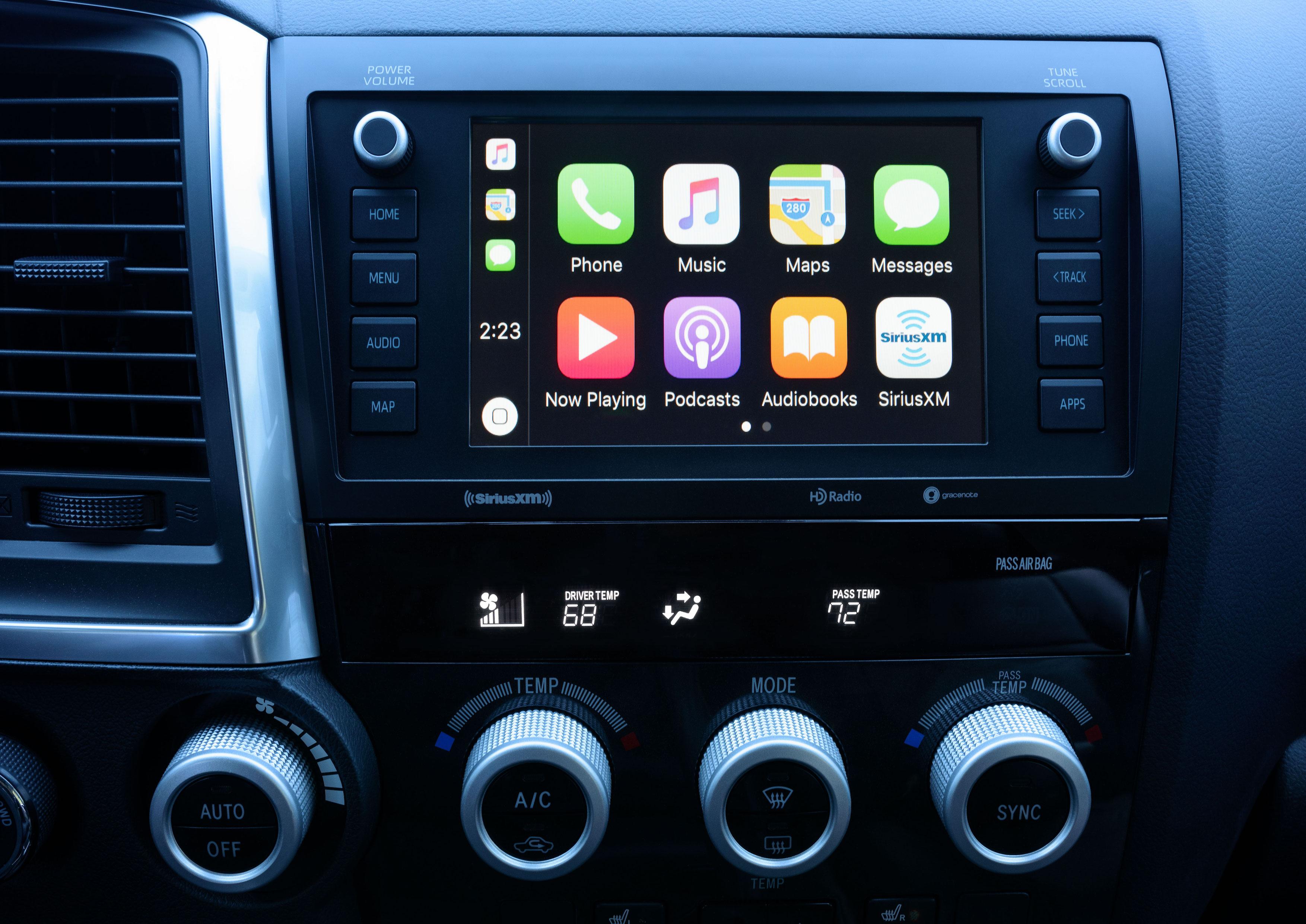 2020 Toyota Sequoia CarPlay interior
