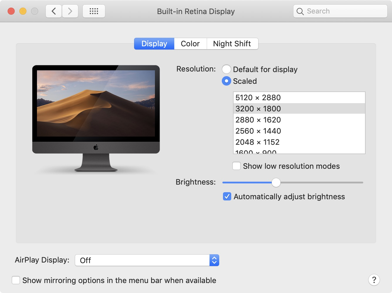 Apple 6K display resolution