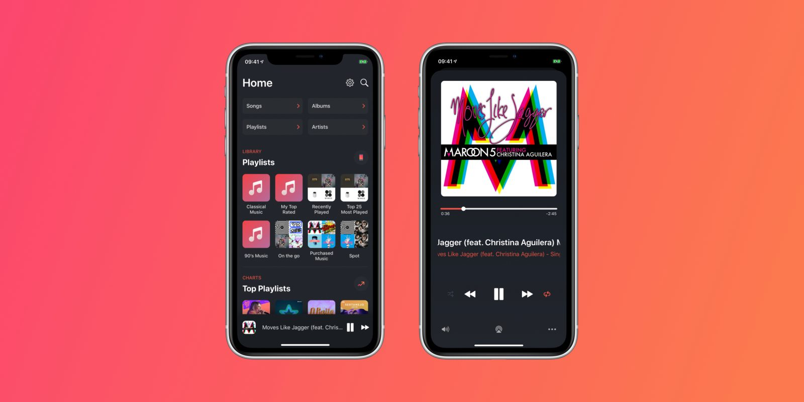 Soor is a beautiful Apple Music player with gesture-based
