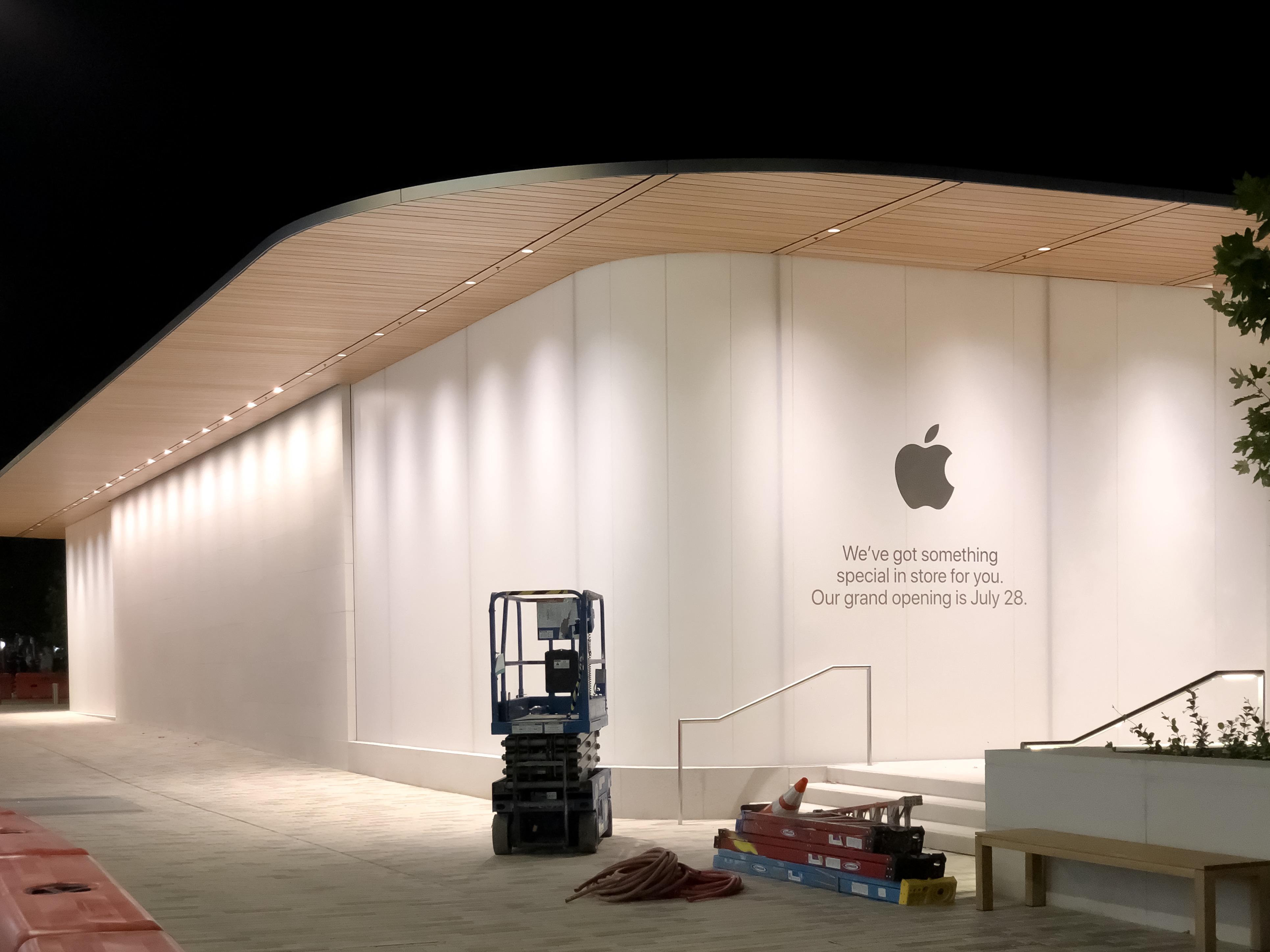 Apple Store Under Construction