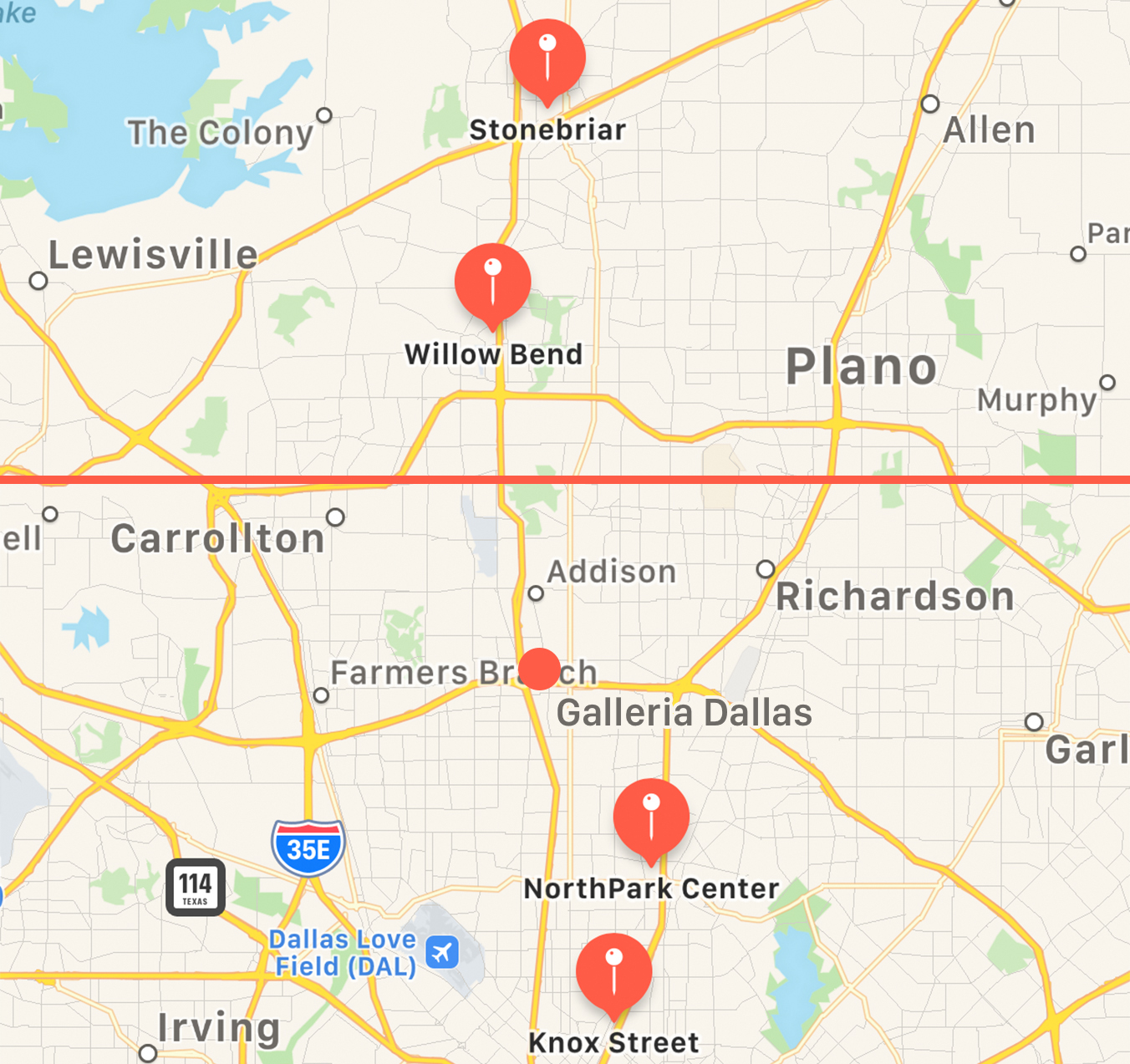 Apple plans new store for Galleria Dallas; Plano and Frisco, Texas on