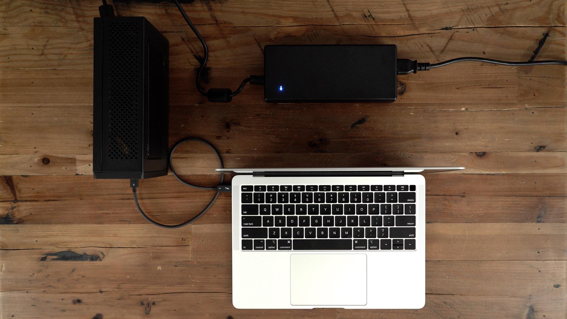 PowerColor Mini Pro eGPU RX 570 MacBook Air Setup