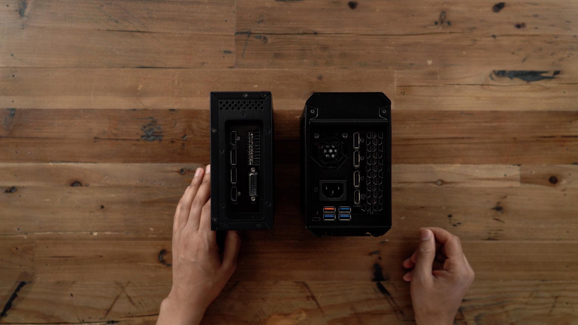 PowerColor Mini Pro eGPU RX 570 vs Gigabyte Gaming Box IO comparison