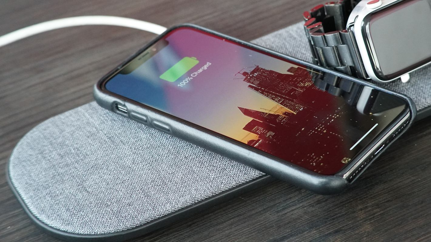SliceCharge Pro Review AirPower close-up multi-coil iPhone charger