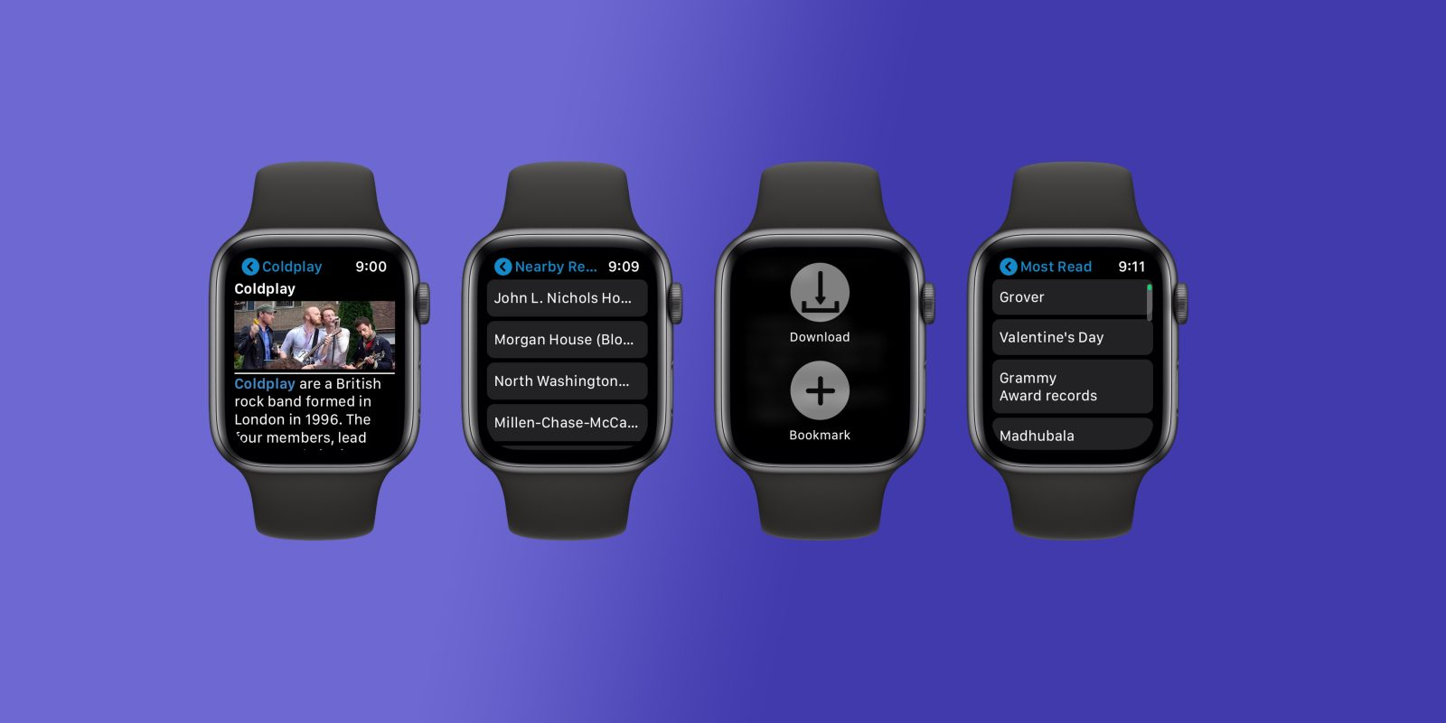 8f1c4e7898 MiniWiki allows you to browse Wikipedia from your Apple Watch with  bookmarks