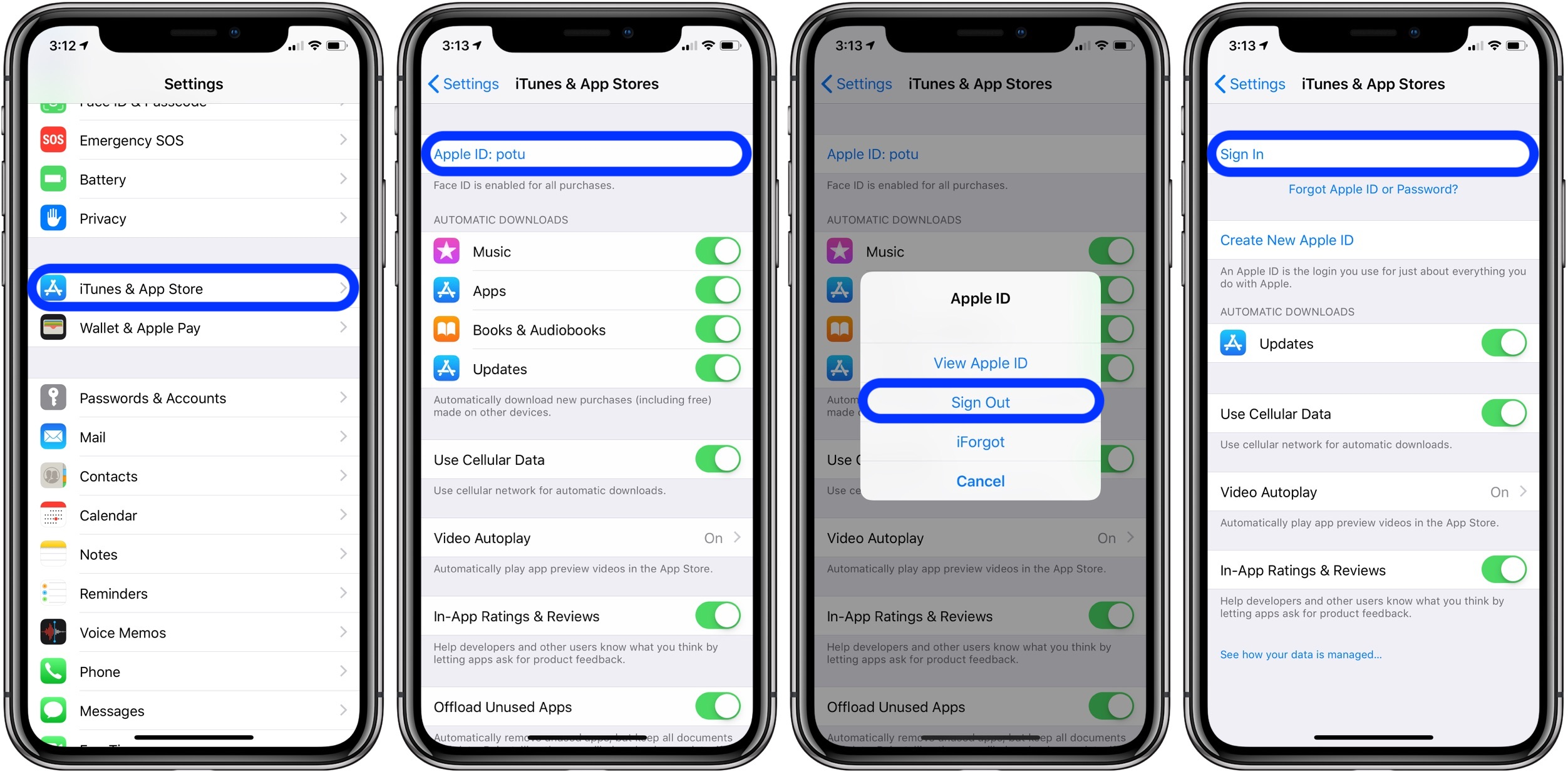 How to change apple id account on iphone 6
