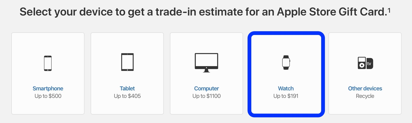 Apple GiveBack check Apple Watch trade-in value