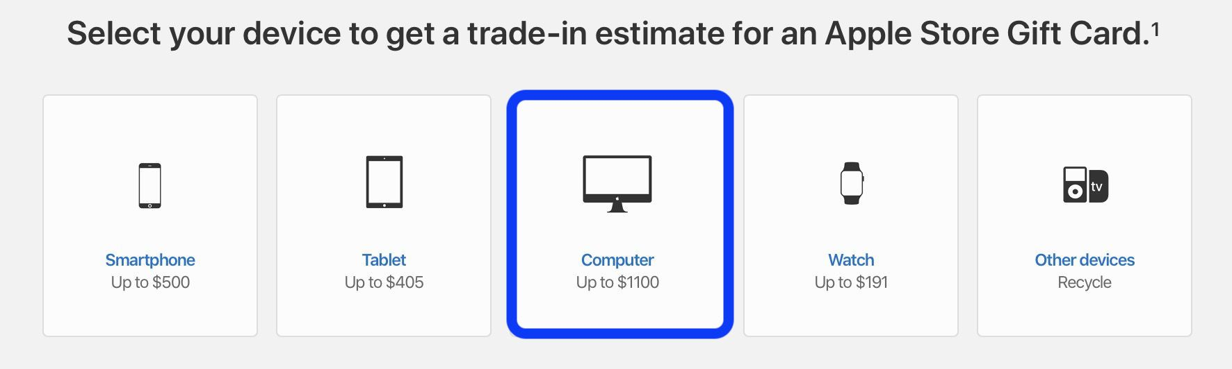 check Mac trade-in value