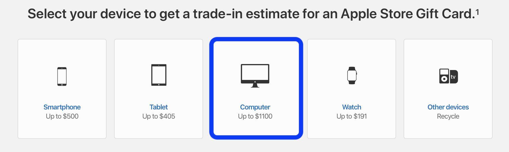check Mac trade-in value