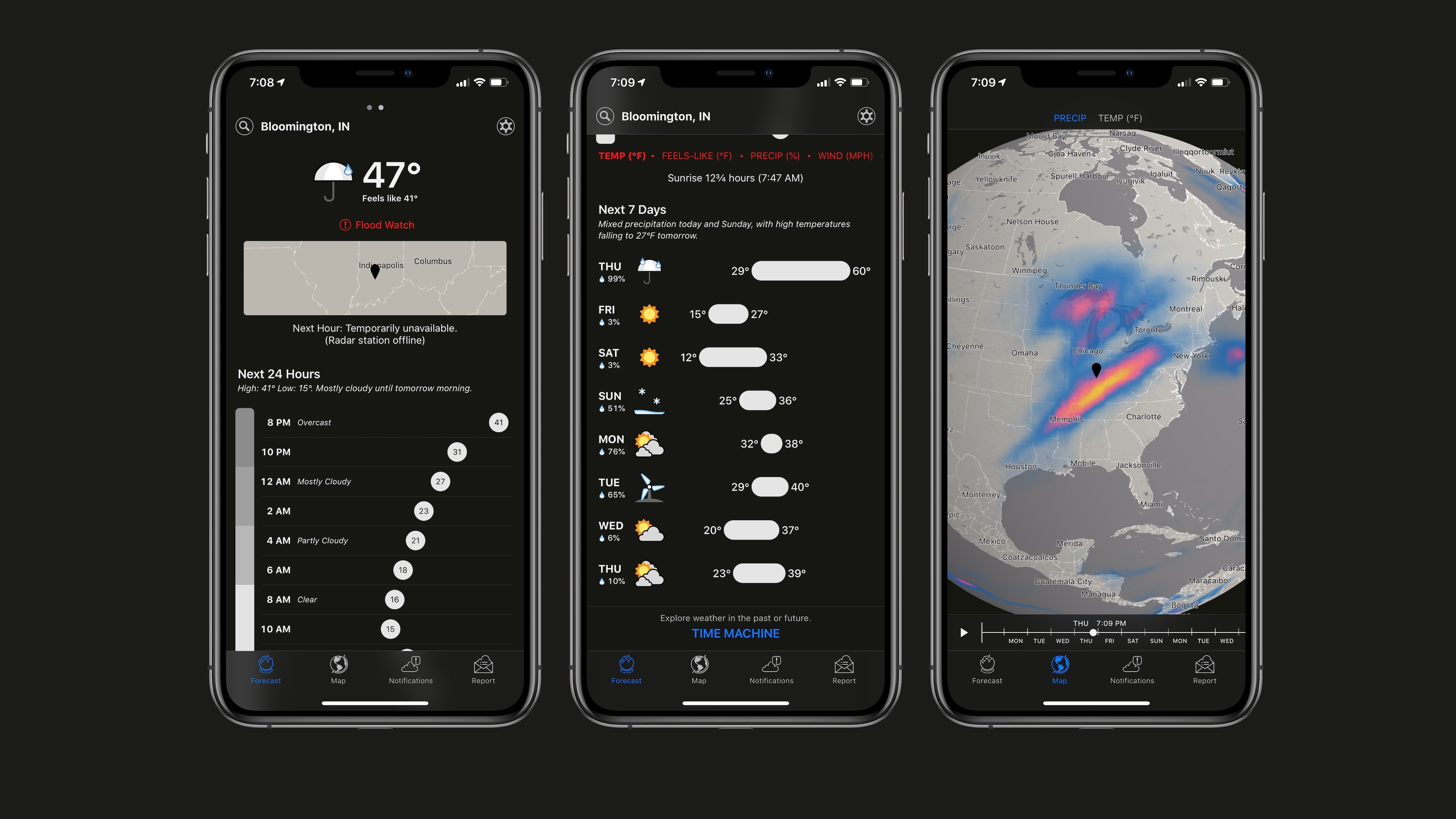 Dark Sky weather app on iOS adds slick new dark mode in latest update