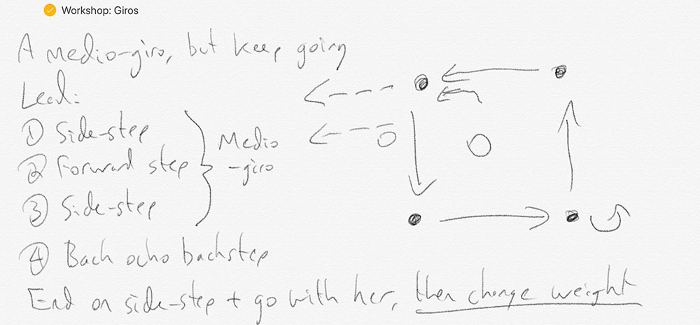 Example of Apple Pencil tango diagram