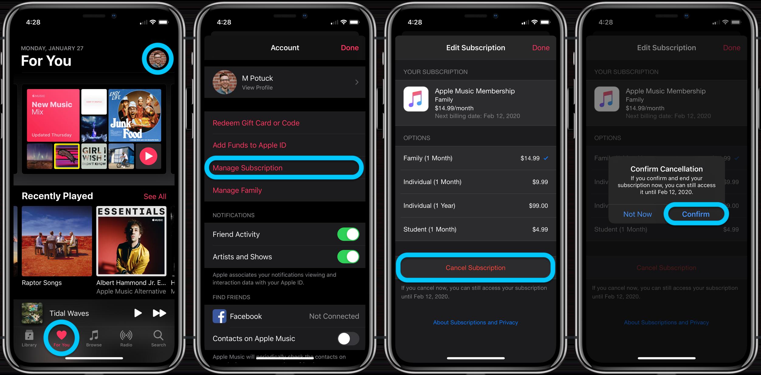 How to cancel Apple Music subscription walkthrough