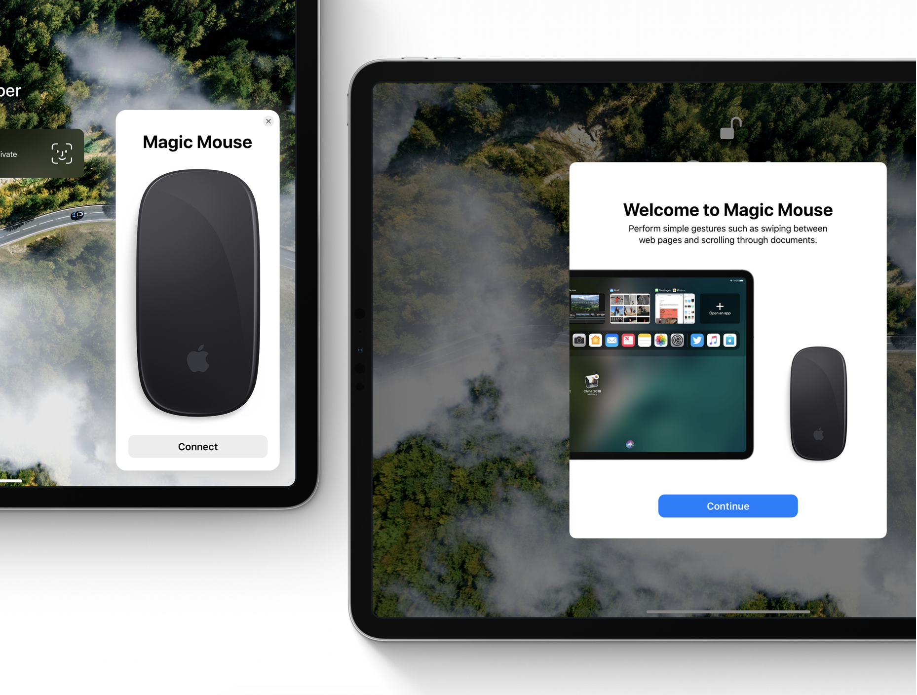iOS 13 concept Magic Mouse support