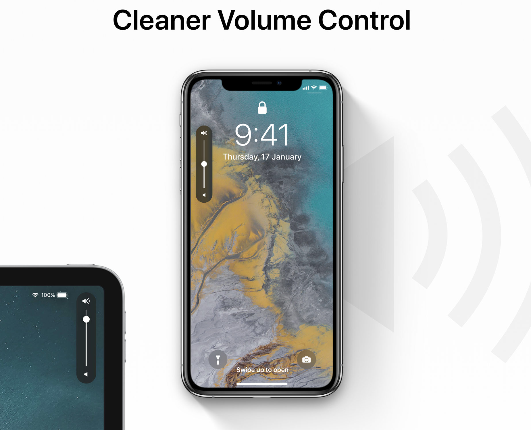 iOS 13 concept volume UI