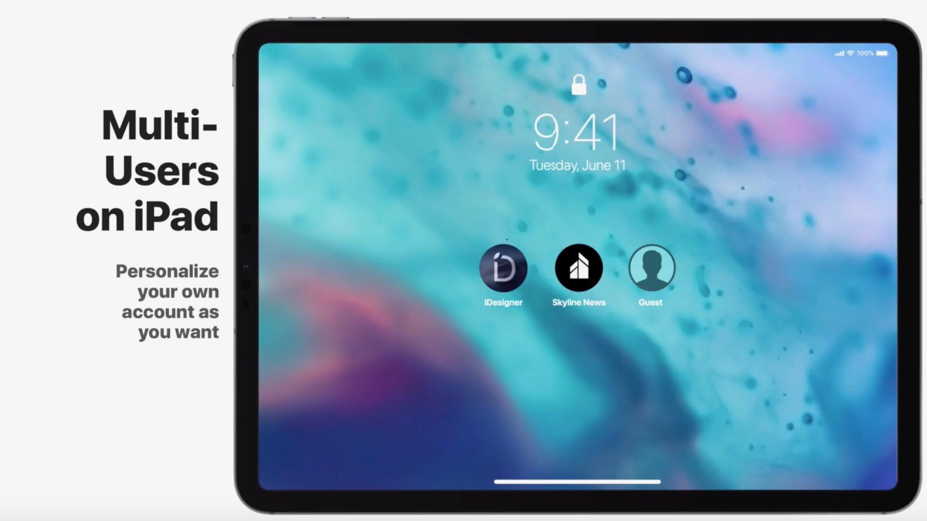 iOS 13 concept imagines Dark Mode, multi-user iPad support, less intrusive Siri, and more [Video]