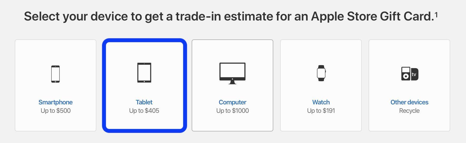 check iPad trade-in value