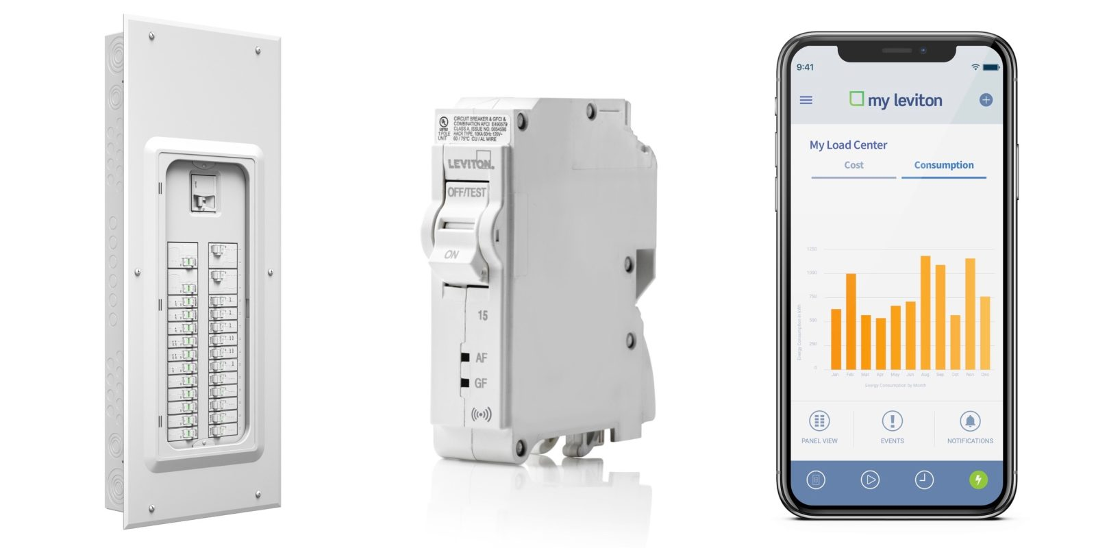 leviton launches smart load center with ios app control for