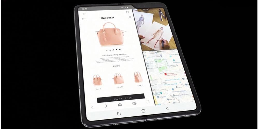 Galaxy Fold tablet mode