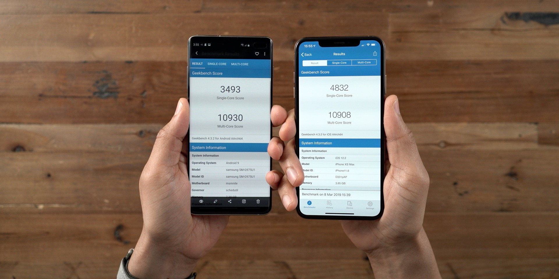 Galaxy S10+ vs iPhone Benchmarks