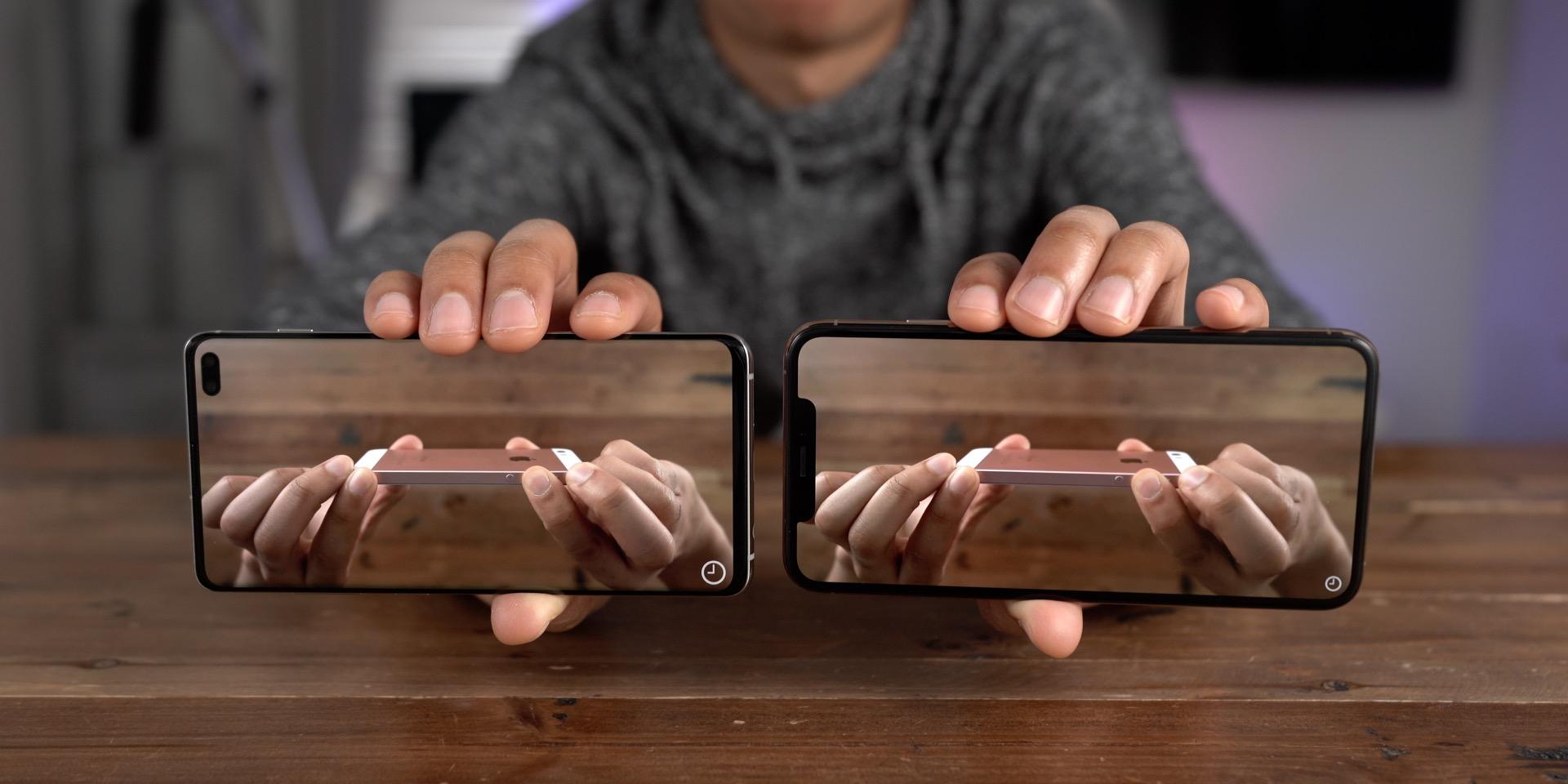 Galaxy S10+ vs iPhone Infinity-O vs Notch