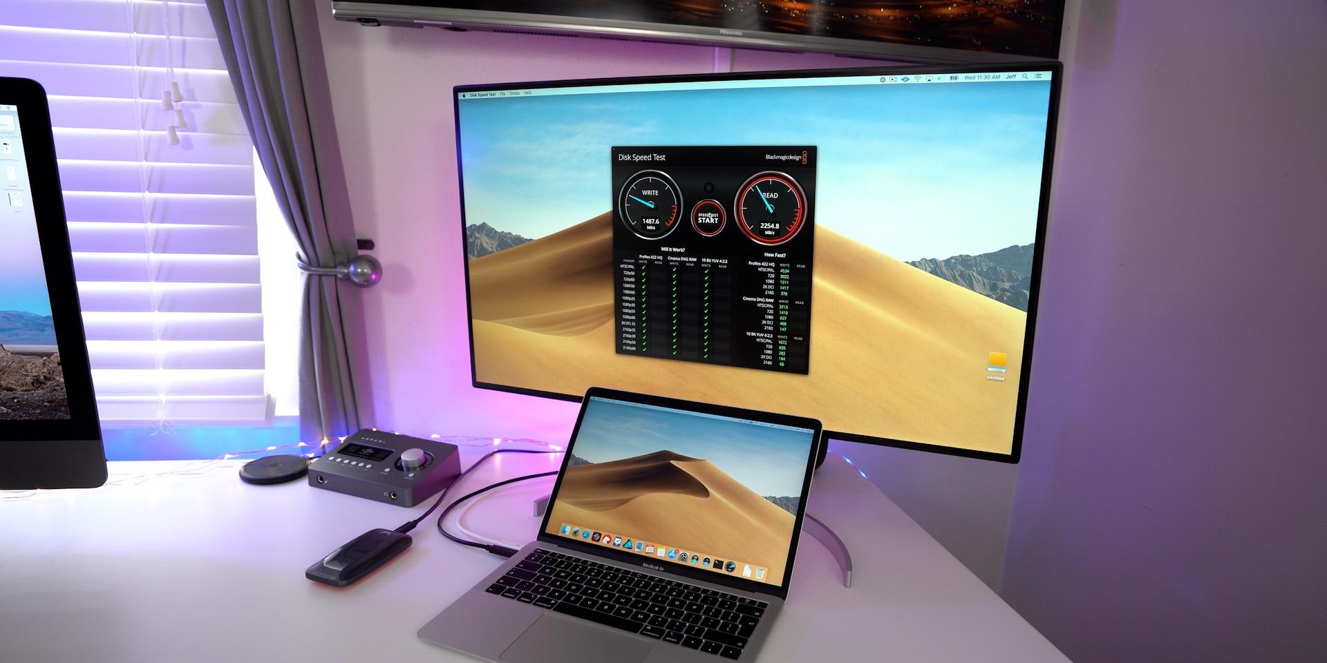 LG 32UL950 UltraFine 4K Display Review SSD Speed Test Thunderbolt 3