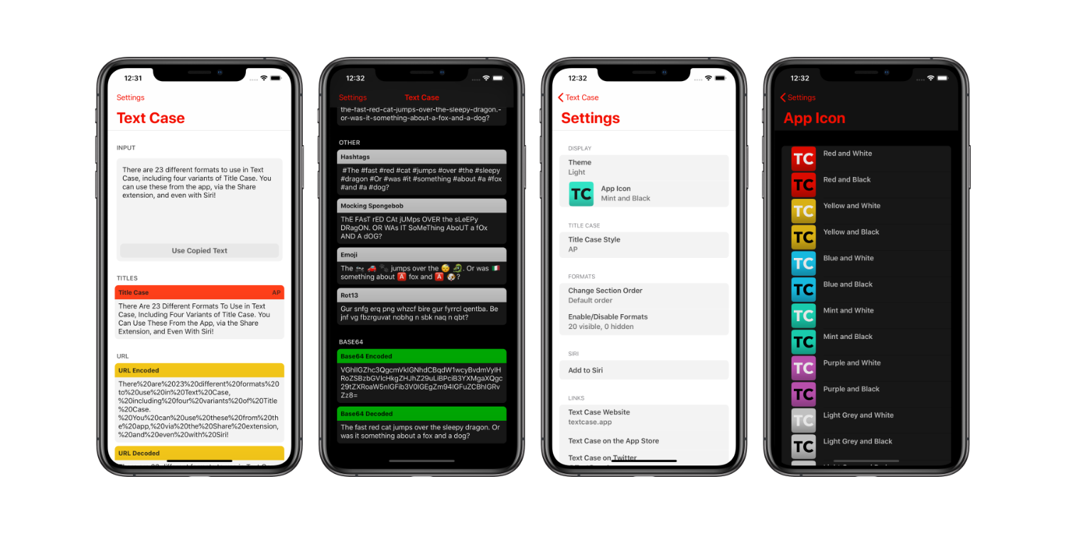 Text Case 2.0 for iOS Includes Text to Emoji, Dark Theme, and New Organization Options