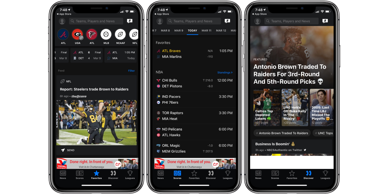 TheScore best Sports iPhone App