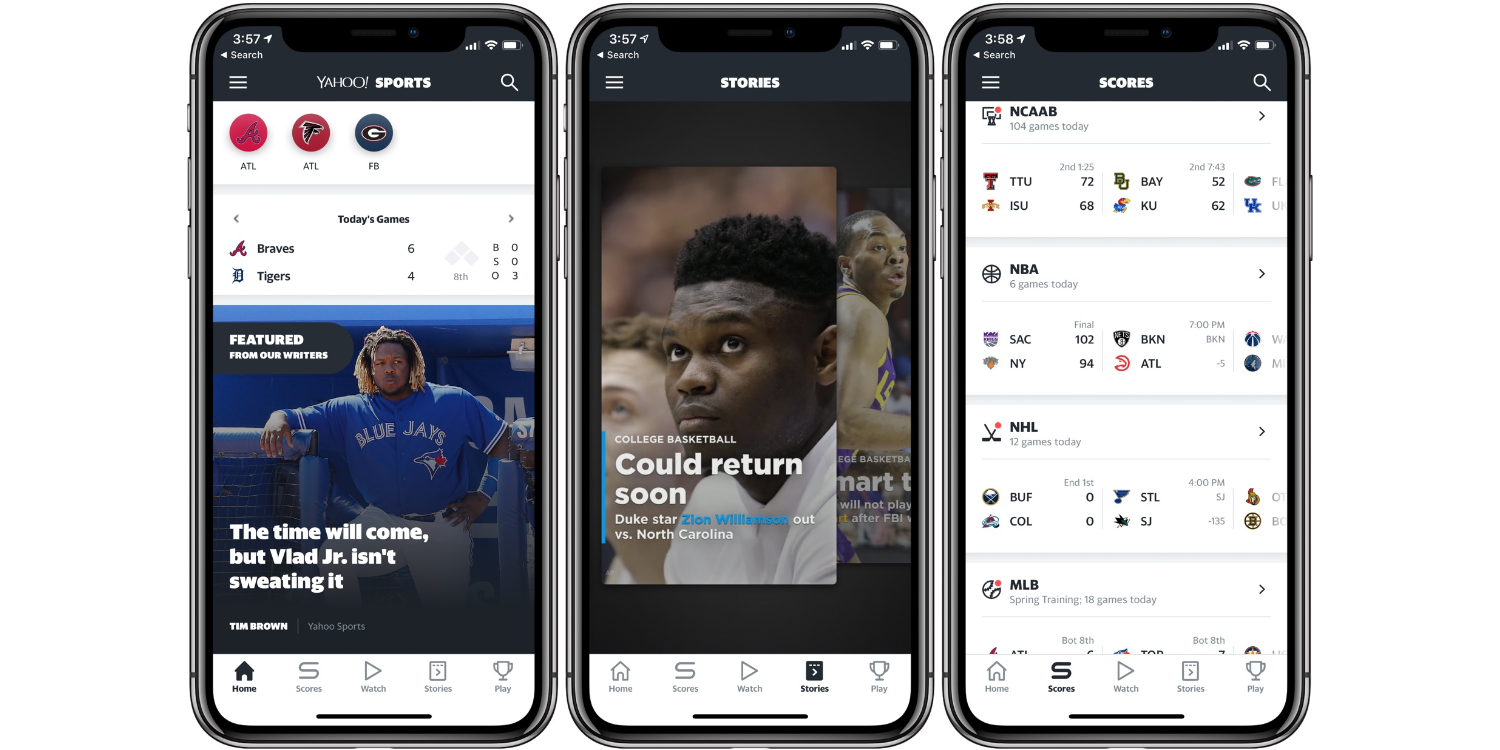 Yahoo Sports best iPhone