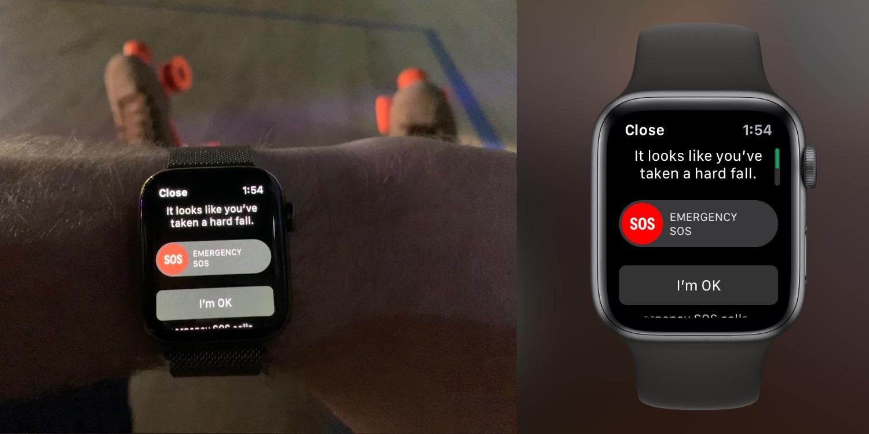 apple watch détection de chute