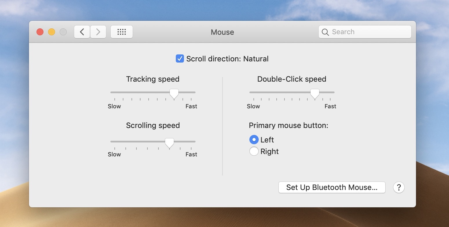 change trackpad mouse speed Mac walkthrough 2