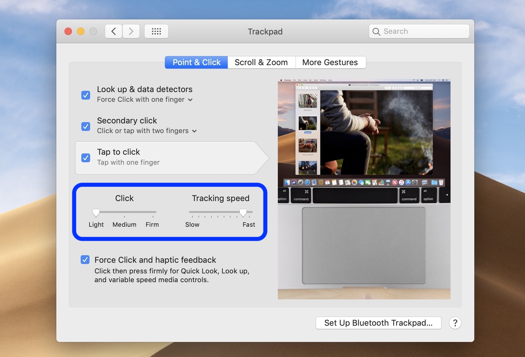 change trackpad mouse speed Mac walkthrough 3