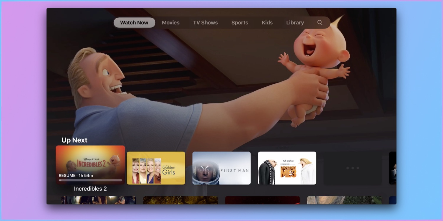 Upgraded TV app available in beta on Apple TV 3, HD, 4K