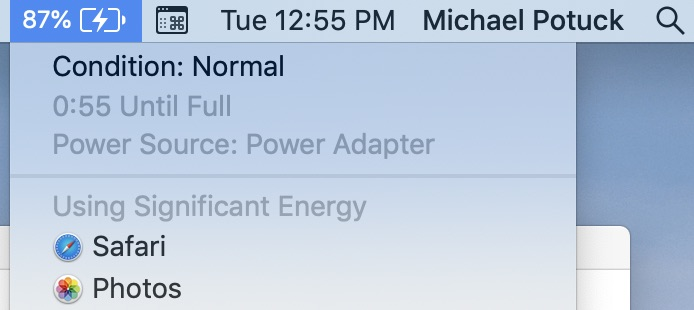 check battery health MacBook