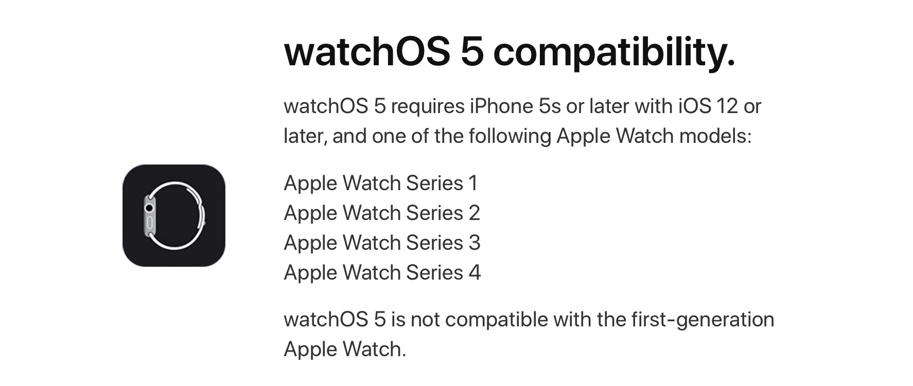 check Apple Watch compatibility