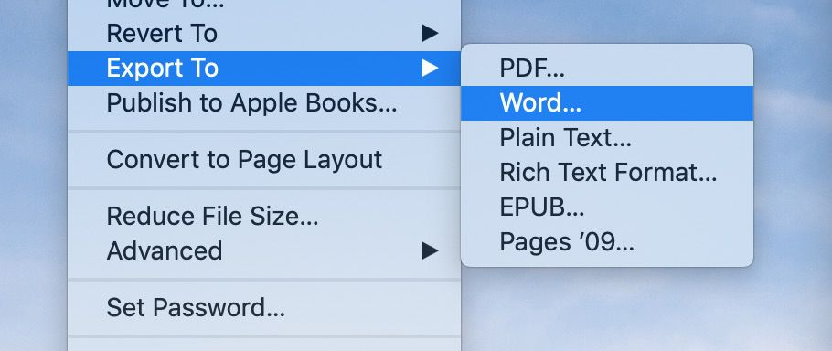 How to convert Pages doc to Microsoft Word doc on Mac - 9to5Mac