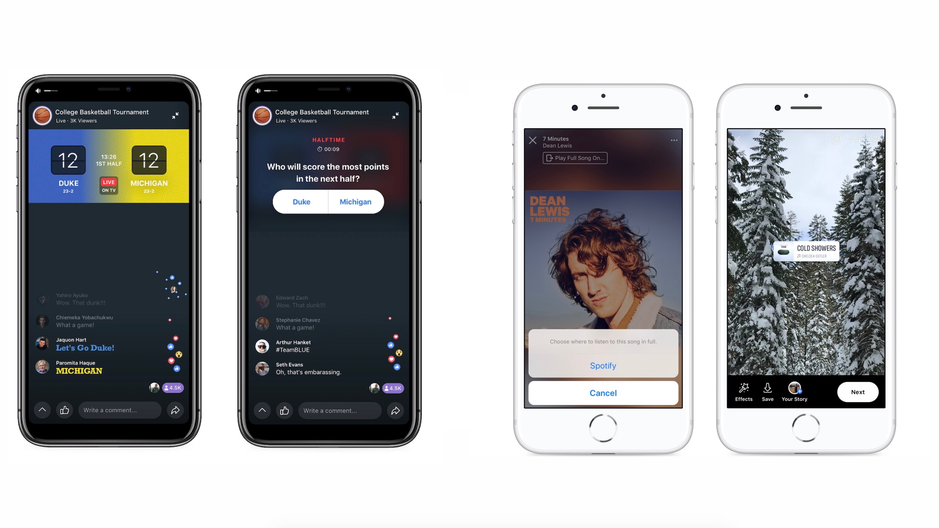 Facebook launches new Watch Party features for live TV, deeper integration with Spotify