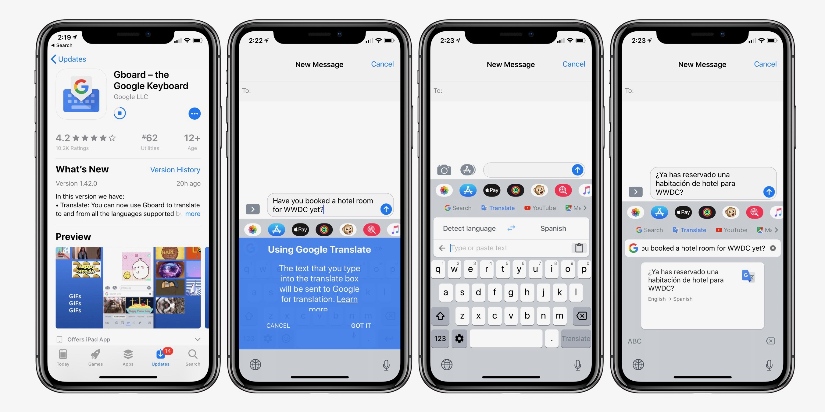 Gboard iOS keyboard update brings handy translate feature to iPhone and iPad